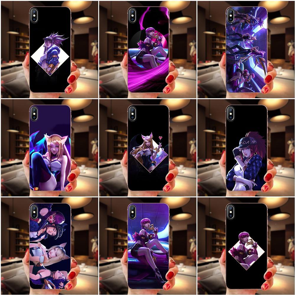 For Huawei Honor 4C 5A 5C 5X 6 6A 6X 7 7A 7C 7X 8 8C 8S 9 10 10i 20 20i Lite Pro Soft TPU Capa Cover Lol Kda Kaisa Ahri Akali
