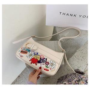 2020 Summer New Fashion Baguette Bags For Women PU Leather Flap Female Designer Shoulder Bag Sac A Main Femme Handbags Bolsos