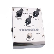 Biyang ToneFancier TR-8 아날로그 트레몰로 기타베이스 이펙트 페달 2 웨이브 폼 페달 커넥터로 트루 바이 패스 조정