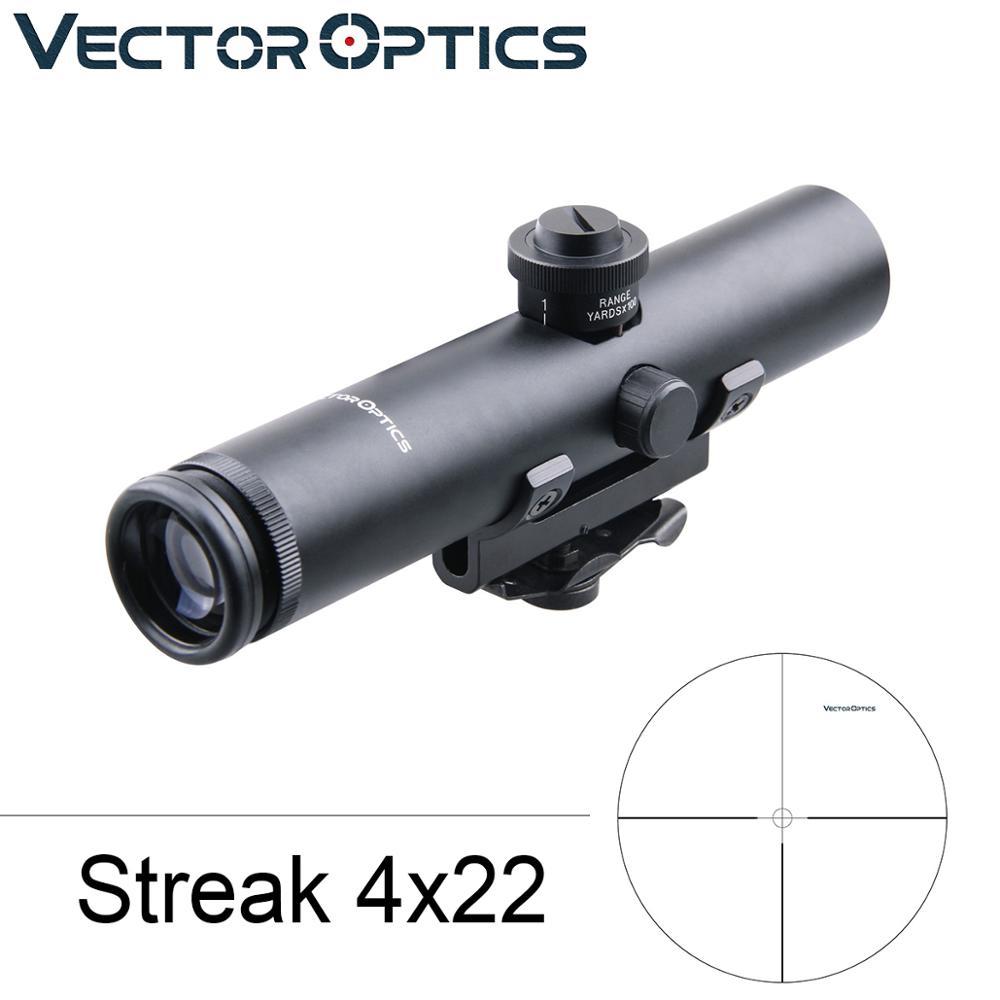 TAC Vector Optics 4x22 AR .223 5.56 Carry Handle Compact Riflescope ShockProof Electro GunSight