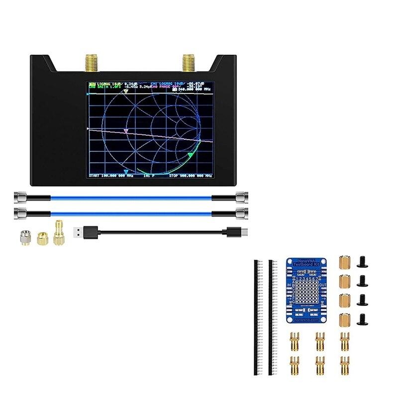 Nanovna SAA-V2 ناقلات شبكة محلل 50Khz -3Ghz مع 1950Mah الألومنيوم + Nanovna اختبار عدة شبكة تحليل