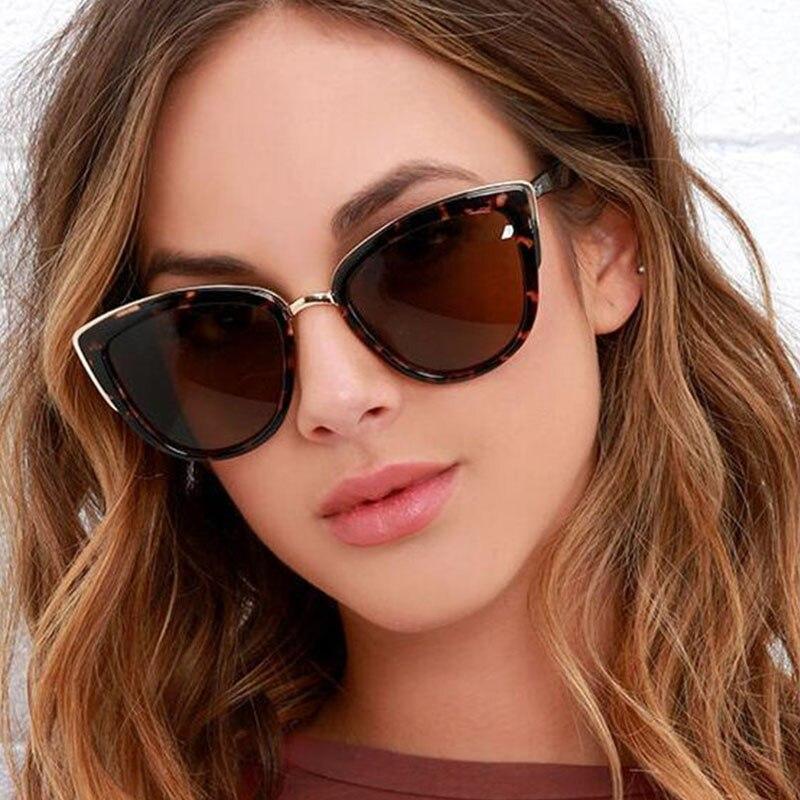 Лидер продаж, модные ретро солнцезащитные очки «кошачий глаз», женские брендовые дизайнерские солнцезащитные очки «кошачий глаз», женские ...