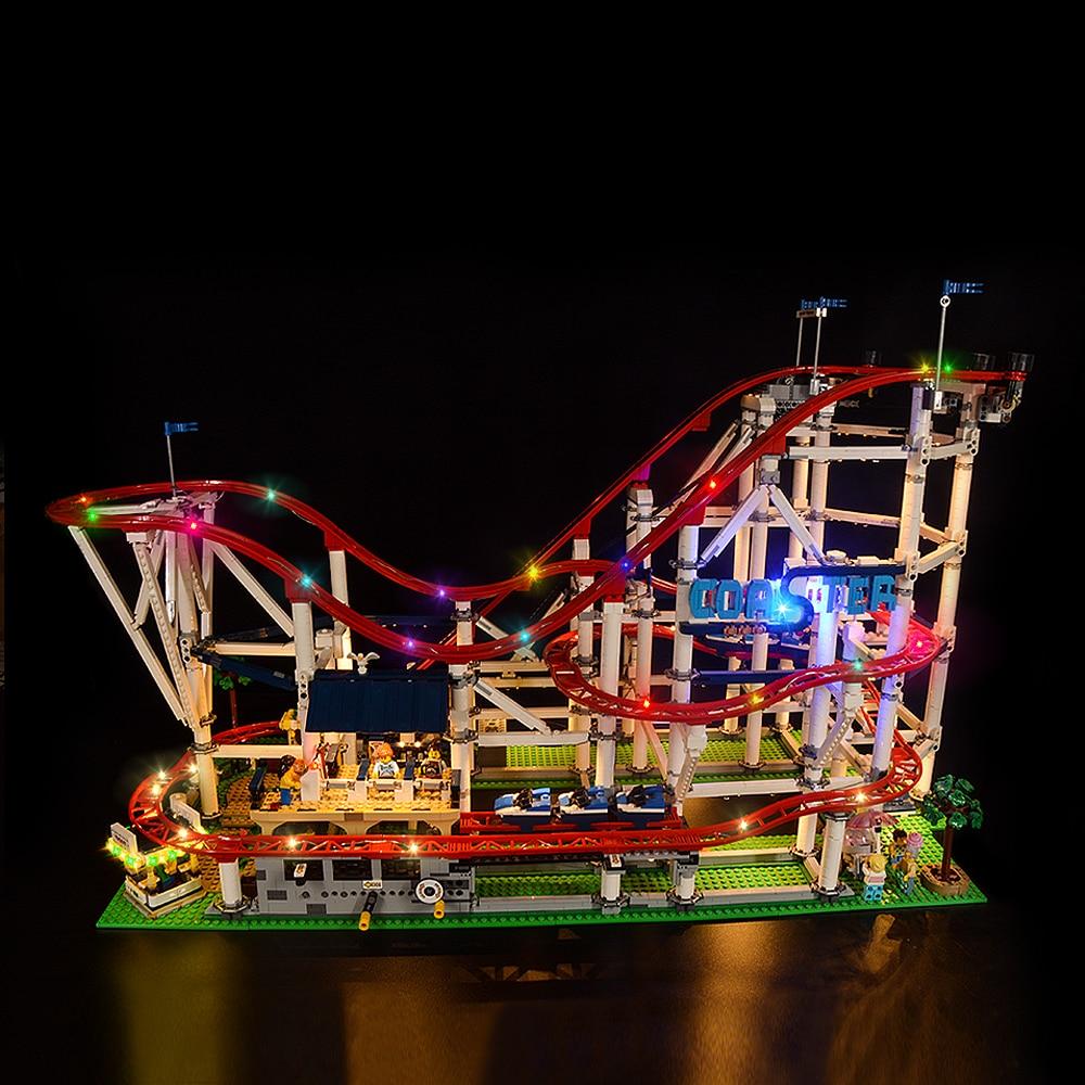 Kit de iluminación LED para 10261, juguetes Creator para montaña rusa, modelo de bloques de construcción (el modelo no incluido)