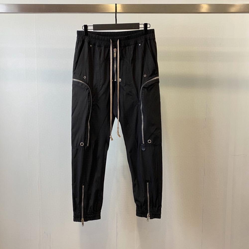 أوين ساك البضائع الرجال عادية سراويلي حريمي القوطية الرجال الملابس عالية الشارع Sweatpants الصيف النساء طول فضفاض السراويل السوداء