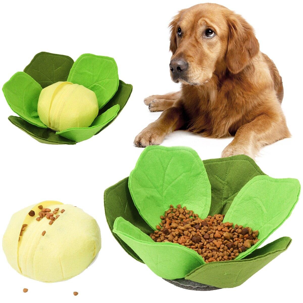 Dog Sniffing Toys Nose Training Food Feeders Dog Washable Puzzle Training Slowing Feeding Bowl Device