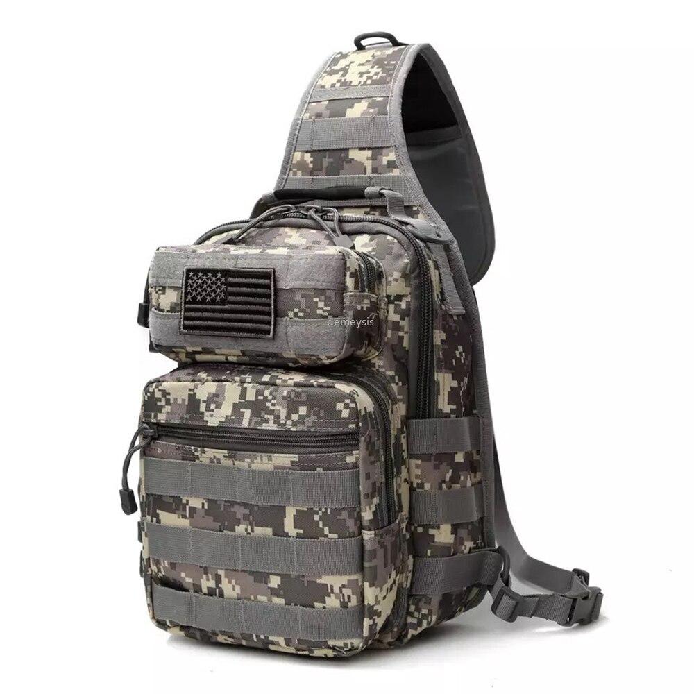 Esporte ao ar livre caça peito saco molle tático sacos de ombro único náilon masculino pacote peito militar unisex