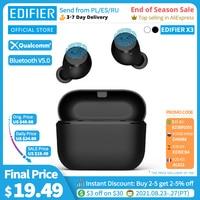 Беспроводные наушники EDIFIER X3 TWS с поддержкой Bluetooth 5,0, голосовым помощником и сенсорным управлением, до 24 часов воспроизведения
