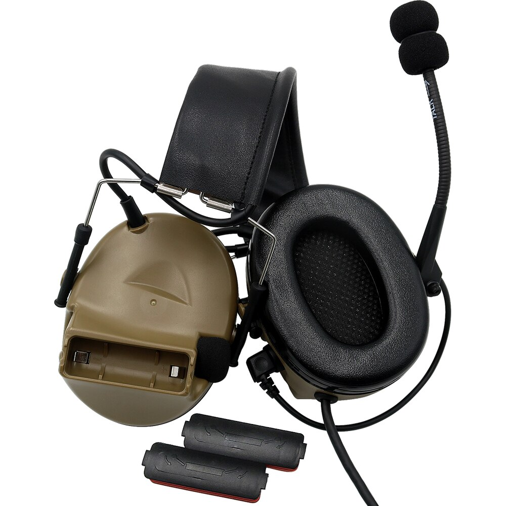 COMTAC II Pickup and Noise Reduction Tactical Headset Electronic Shooting Headphones Noise Reduction Earmuffs + Tactical U94 PTT enlarge