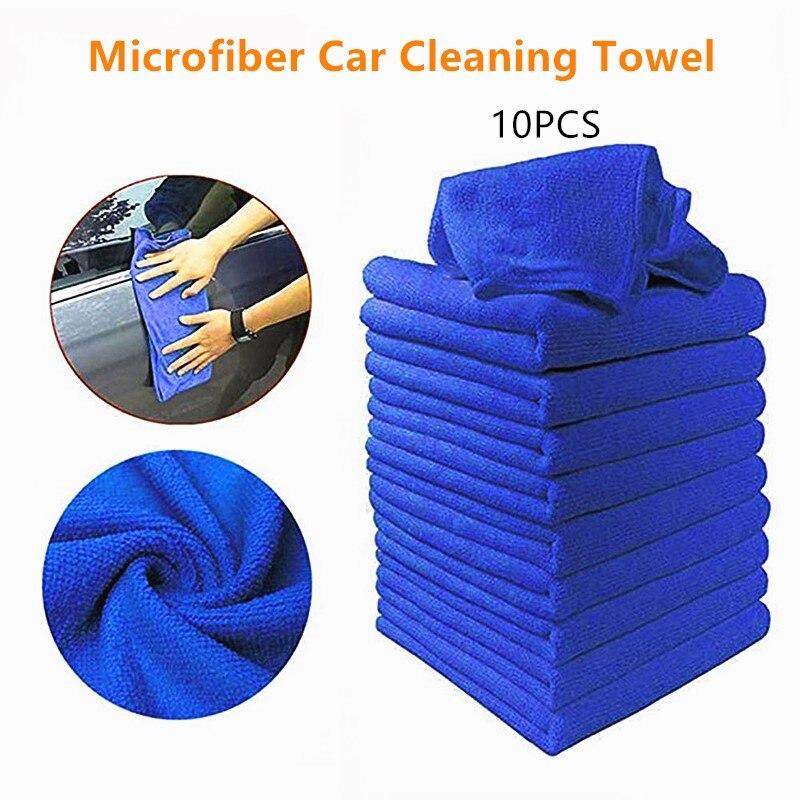 10 Pçs/set Toalhas de Limpeza Do Carro De Microfibra de Lavar Roupa Da Motocicleta Automóvel de Vidro Pano de Limpeza Doméstica Toalha Pequena Brisa