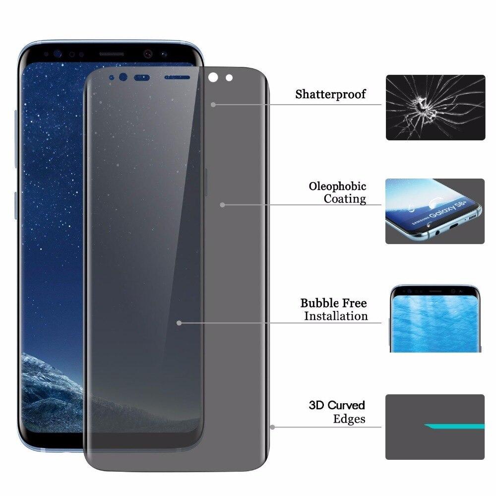 Vidrio Templado antiespía para Samsung Galaxy A9 star A9/A8/A7 2018 J8/J6/J4 Plus Protector de pantalla de privacidad