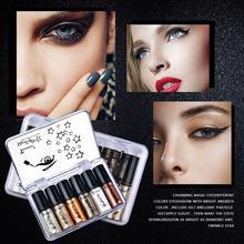 6PCMetallic Glitter Glow Eyeshadow Comestics Lip Gloss Lasting Liquid Eye Shadow Makeup Eye Shadow Magnificent Metals Glitter