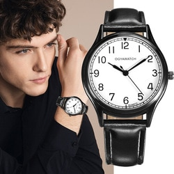 Relógios masculinos simples relógio de couro completo masculino relogio masculino esportes negócios erkek kol saati vestido relógio de pulso estudante watch2020