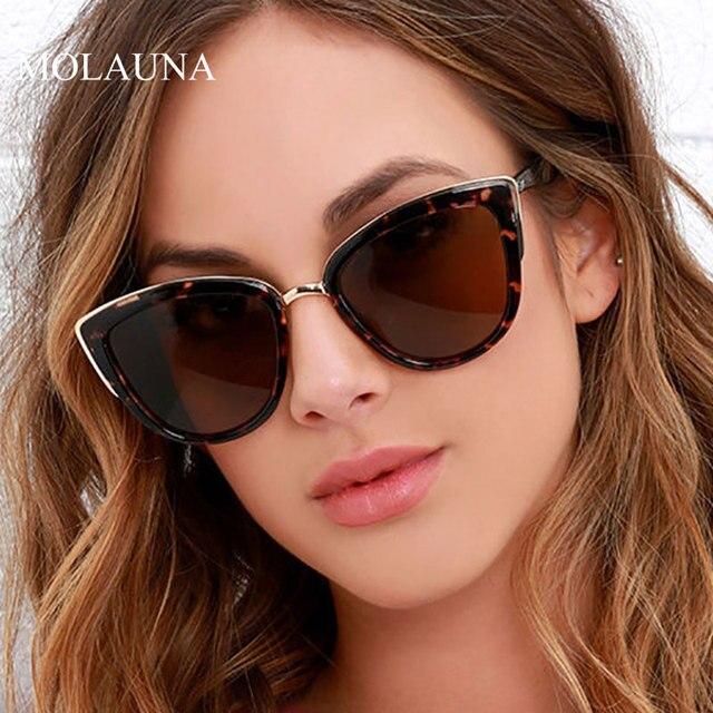 2021 Fashion Cat Eye Sunglasses Women Brand Design Vintage Female Glasses Retro Cateye Sun Glasses For Women Oculos De Sol UV400
