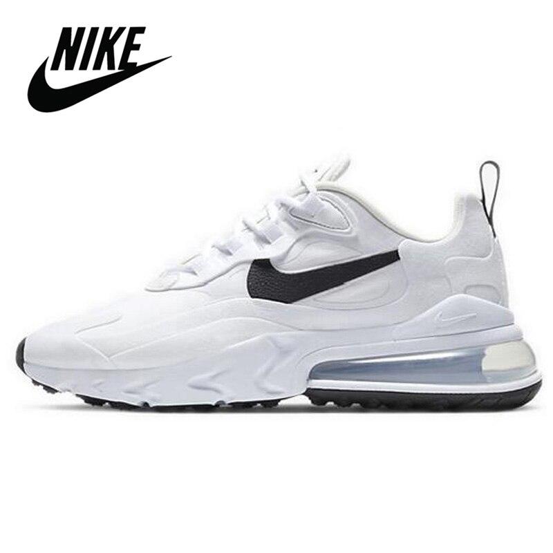 Original Nike Air Max 270 reaccionar las mujeres Zapatos blanco transpirable cómodo deportes zapatillas de deporte INS recomendado