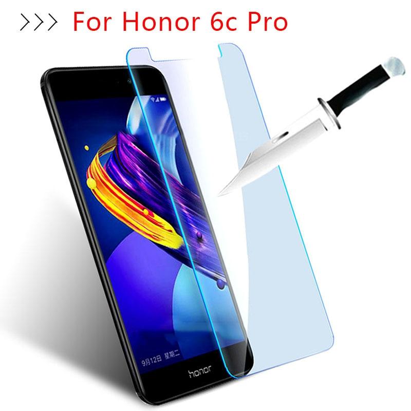 Proteção de vidro na honra 6c pro vidro temperado para huawei hono 6cpro 6c c6 protetor de tela proteger o filme do telefone caso frontal
