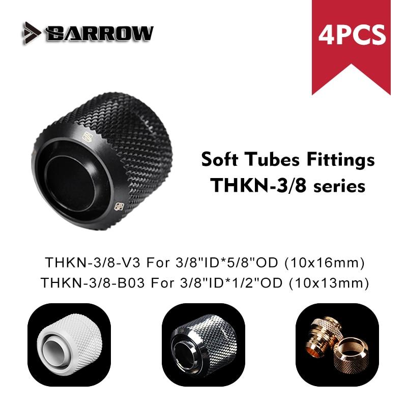 "Carretilla de ajuste de tubo suave adaptador 3/8 ""Id 10x13mm 10x16mm 1/2"" Od 5/8 ""Od G1/4"" caja de ordenador impermeable racor de refrigeración"