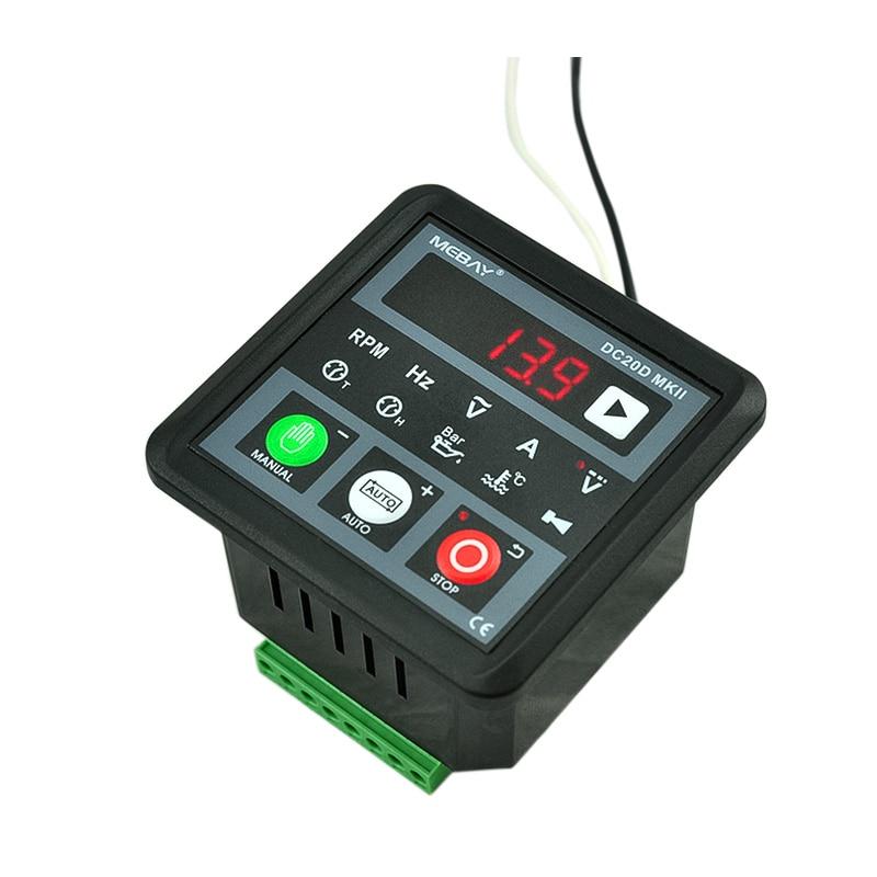 MEBAY DC20D MKII الإلكترونية وحدة تحكم بالمولد وحدة لوحة التحكم لمحرك الديزل أو مولد محرك الديزل