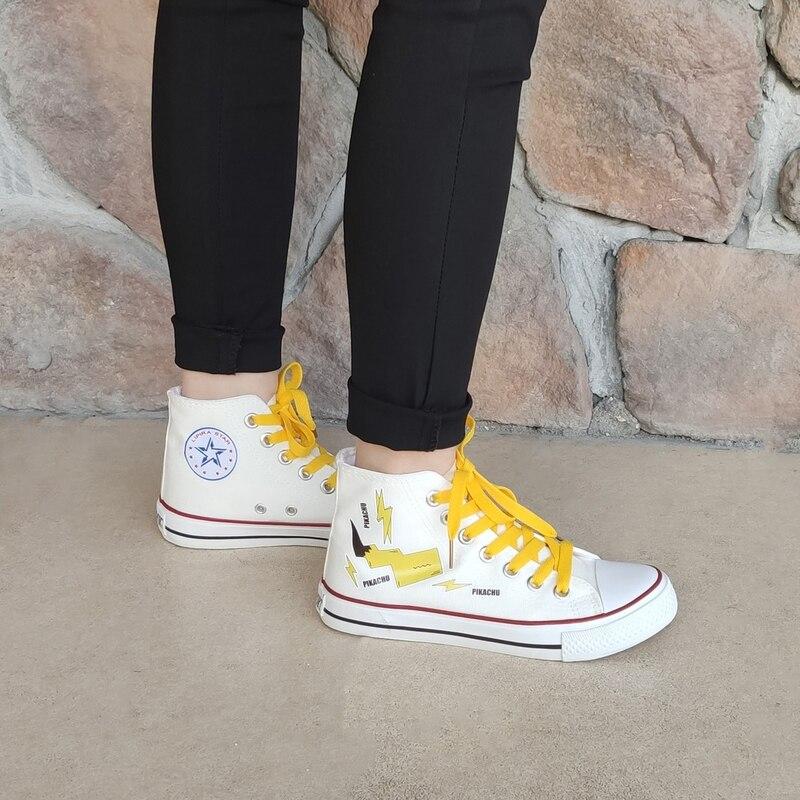 Nueva moda Primavera zapatos de lona para mujer zapatos de ocio de dibujos animados con cordones zapatos de mujer Zapatillas informales Tenis Femenino W26-35