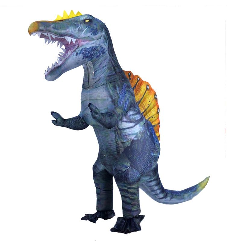 Fantasia de Dinossauro Traje de Halloween T-rex Desenho Dino Adulto Criança Mascote Festa Cosplay Anime
