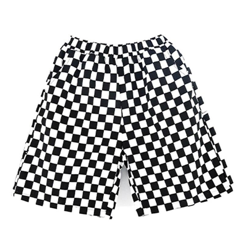 Детская одежда в стиле хип-хоп, уличная одежда, летние клетчатые шорты для девочек и мальчиков, танцевальный костюм, танцевальная одежда