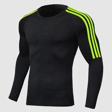 Mannen Running Snel Droog T-shirt Polyester Compressie Sport Voetbal Jersey Fitness Camisetas De Futbol Kleding Gym Shirt Sportkleding
