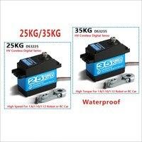 Сервопривод без сердечника с высоким крутящим моментом DS3235 и DS3225, водонепроницаемый цифровой сервопривод из нержавеющей стали для роботов ...