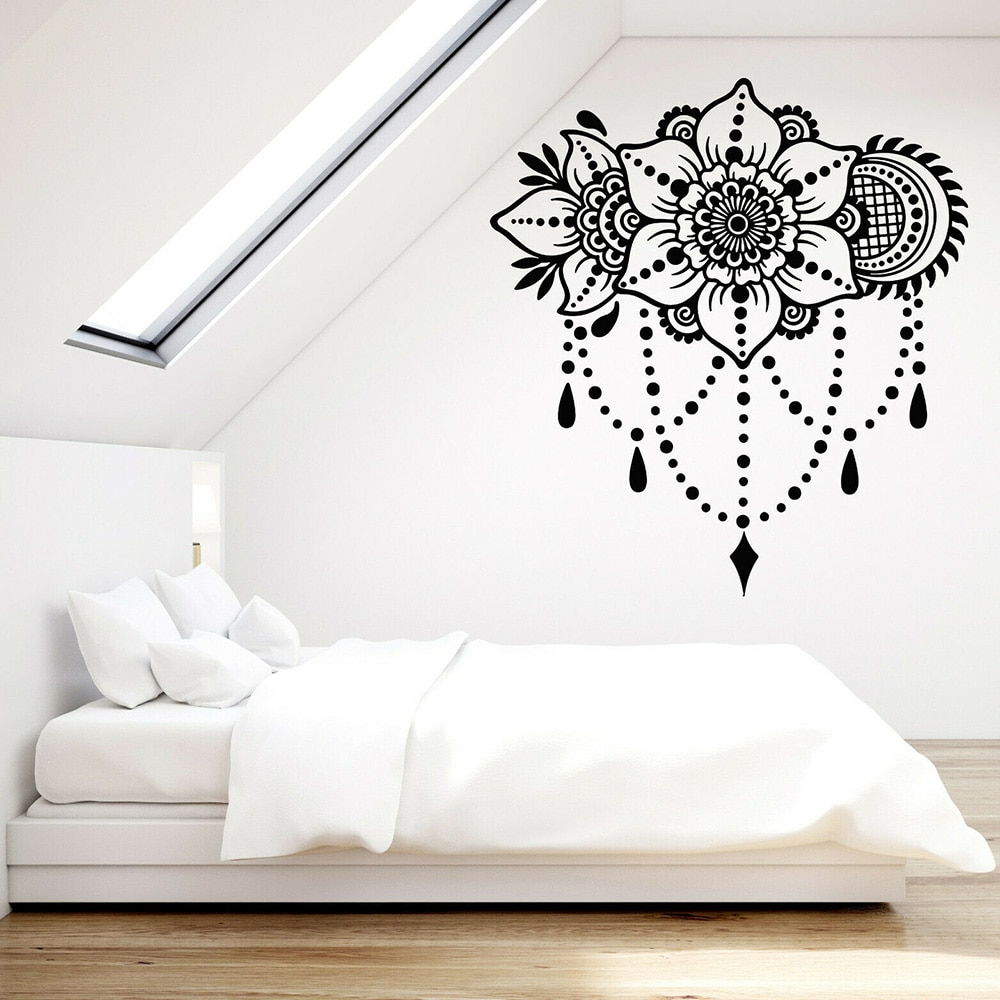 Calcomanía de vinilo para pared ramo Floral adorno flor motivo Interior pegatinas decoración del hogar Accesorios para la sala de estar Z318