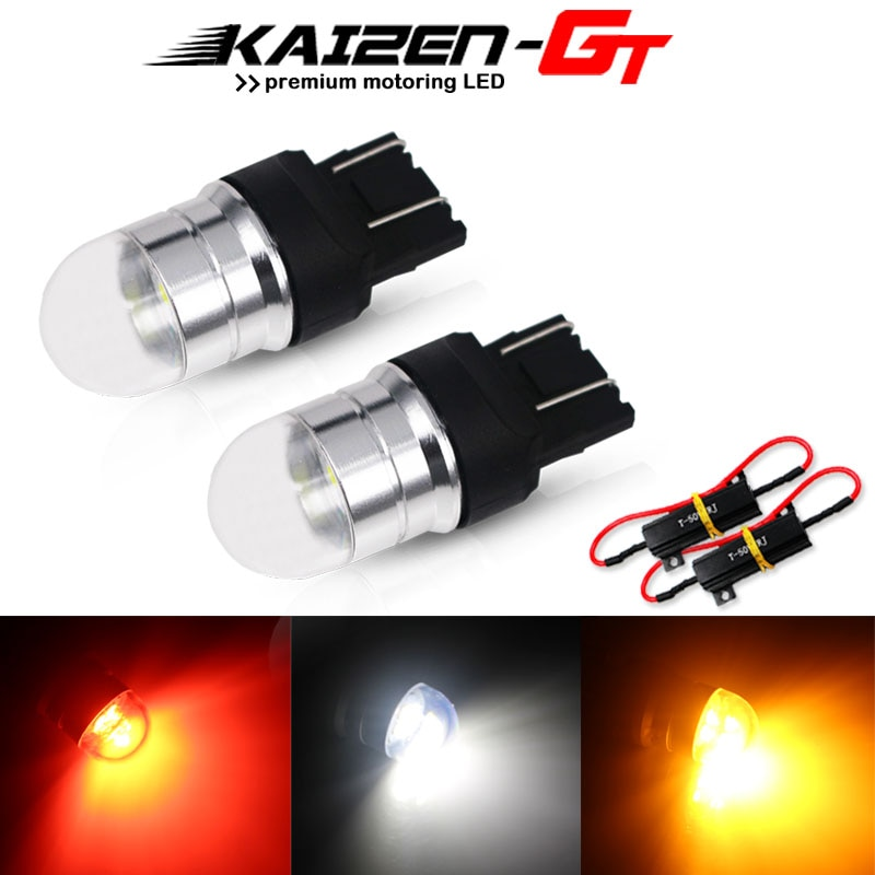 Canbus gratis de Error T20 W21/5W 7443 LED 3030-SMD bombillas para intermitente luz de freno Luz de marcha atrás DRL blanco/rojo/ámbar