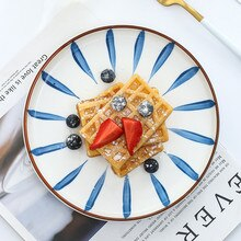 25cm redondo japonês microondas cerâmica jantar pratos placa massas bife jantar placa de cozinha dropshipping