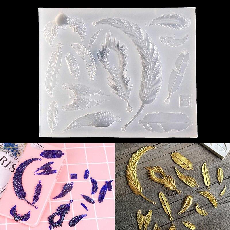 1 шт. украшения формы перо формы для изготовления силиконовые полимерная для торта инструменты для изготовления подарка «сделай сам» ручно...