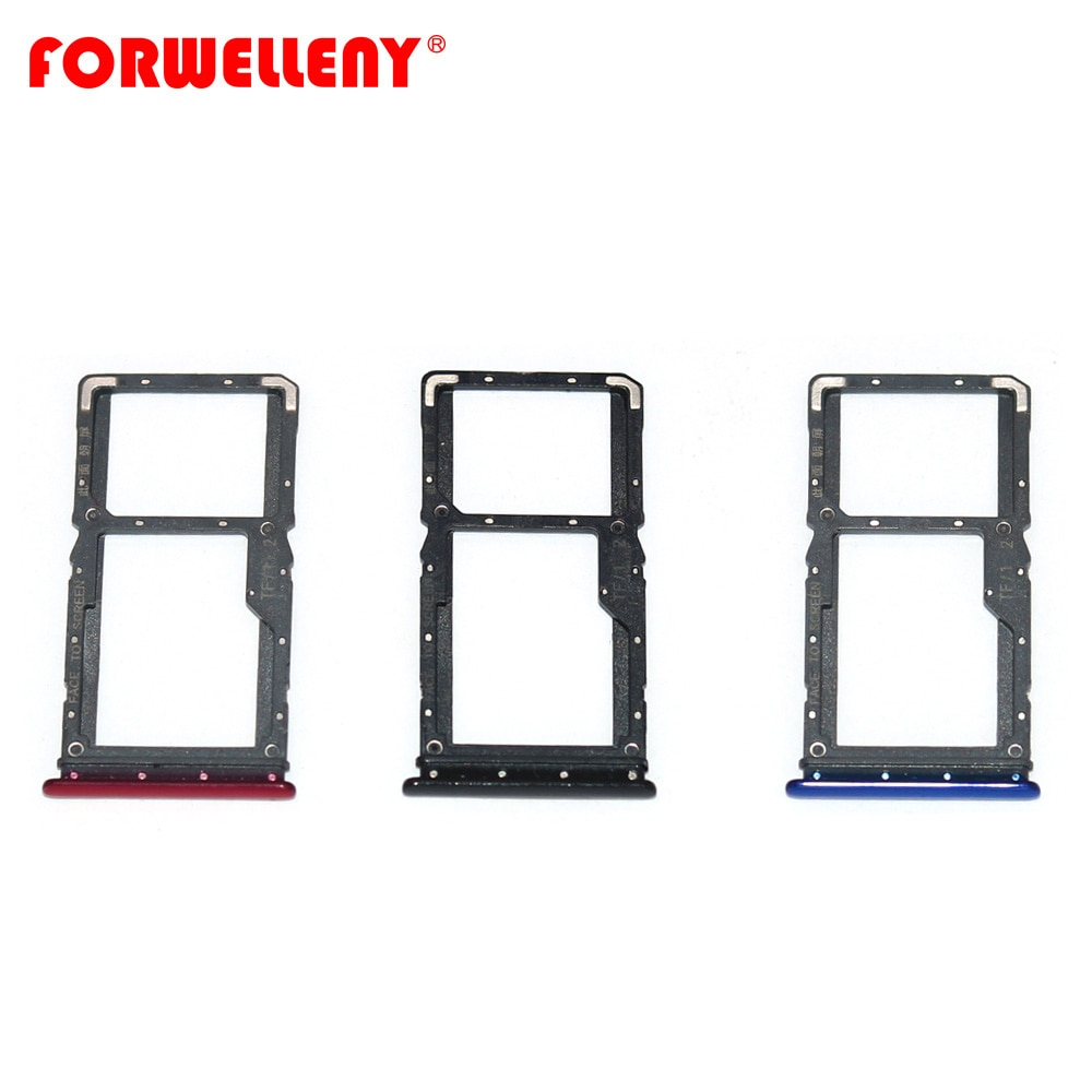 For xiaomi xiomi redmi note 7 note7  Micro Sim Card Holder Slot Tray Replacement Adapters black blue red недорого