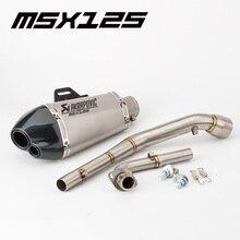 Motorrad auspuff motorrad schalldämpfer MSX125 auspuff M3 GROM msx125 2012-2017 msx125 link rohr msx125 mid rohr stecker AFFE