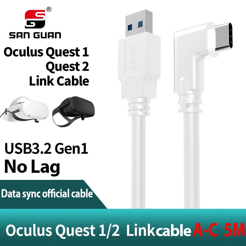 5M 3M USB-C Cable Oculus búsqueda 2 Cable de enlace USB3.2 compatibilidad...