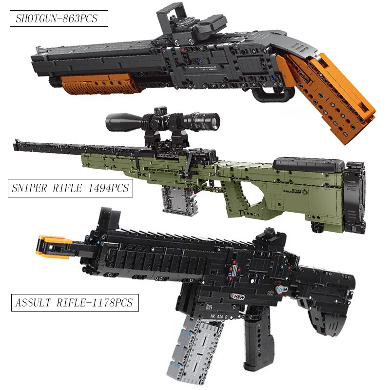 Rifle de asalto compatible con lepin Technic Guns SWAT arma militar modelo Kit bloques de construcción ladrillos juguetes para niños regalos