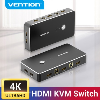 Vention – commutateur KVM HDMI 4K/60Hz, 2 Ports USB, pour boîte de commutation, pour le partage d'imprimante, clavier et souris, commutateur KVM HDMI VGA
