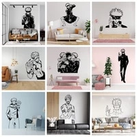 new design anime jujutsu kaisen wall stickers removable vinyl mural poster for kids room living room home decor vinyl decals