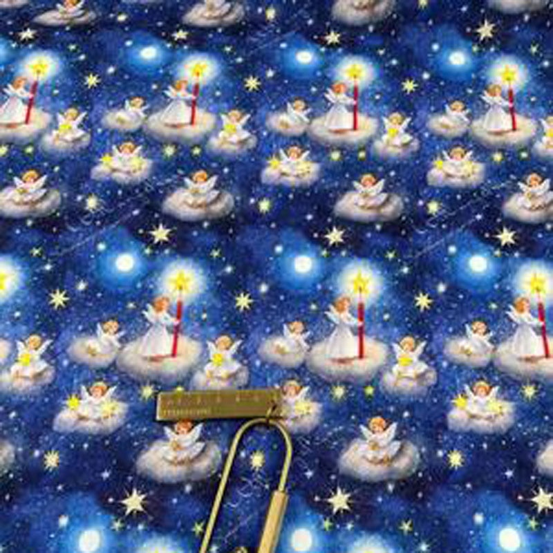 50x105cm Star Angels in Sky Printed Cotton Fabric Design 014 Fabric Patchwork for Cloth Dress Party Home Decor