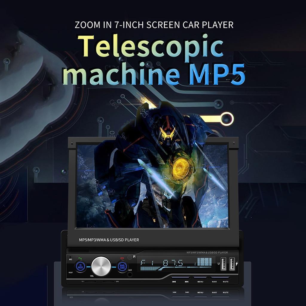 Tarjeta MP5 de coche telescópica de navegación por T100-G, reproductor MP4 de coche GPS BT, Prioridad de Inversión de llamada con MP3, venta al por mayor, proveedor dropshipping