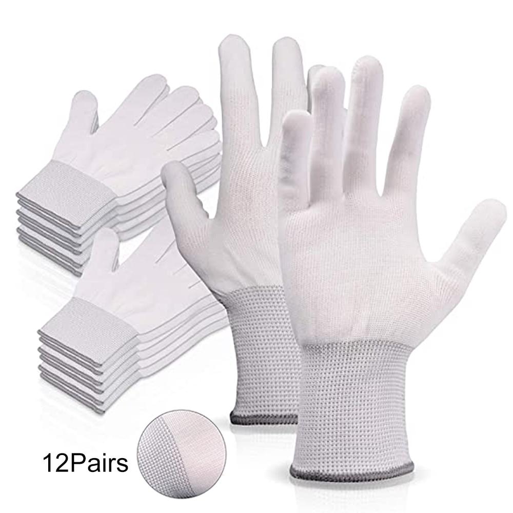 Антистатические перчатки FOSHIO для окон, виниловые автомобильные перчатки из углеродного волокна, 4/12 пар