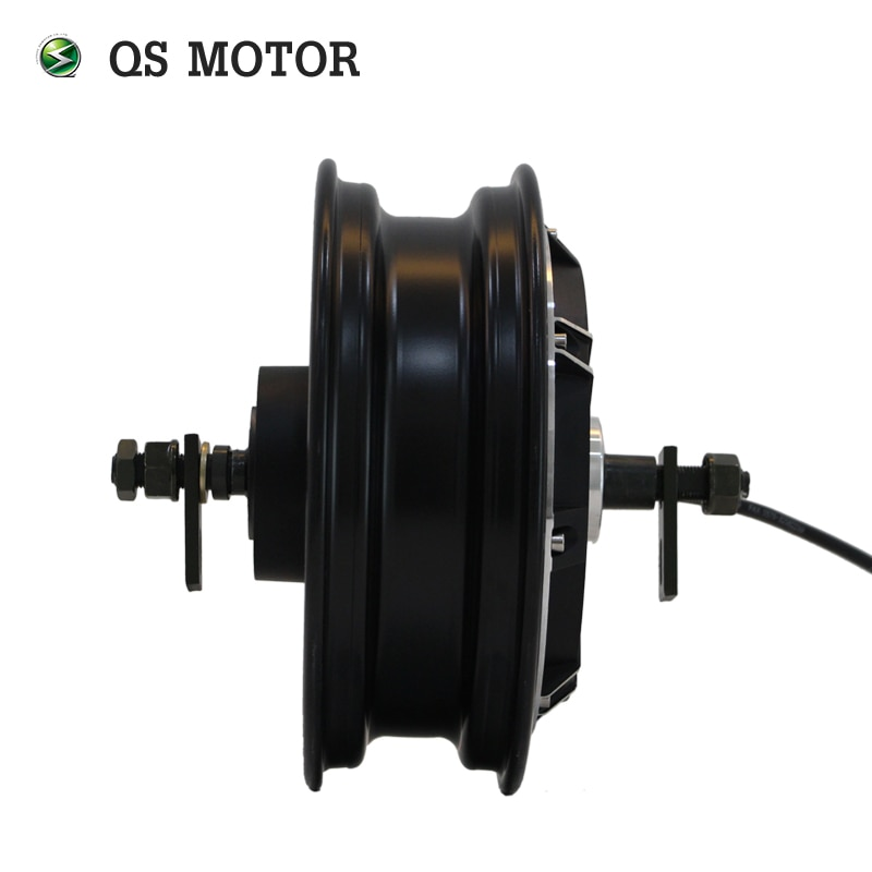 QSMOTOR 10inch 3000w 205 V3 dc brushless scooter hub motor 48v to 96v in High power quality with CE enlarge