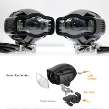 Lampe phare de moto   XVS 1100, pour Yamaha FZ1 XVS1100 FJR1300, feu antibrouillard Super lumineux, chargeur USB