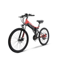 26inch commute travel fold frame electric power assisted pedal bicycle 48v24ah lithium battery color usb lcd 500w electric bike