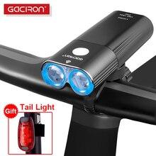 Gaciron 400 1800 lm luz da bicicleta pro farol com luz traseira usb power bank ipx6 lanterna mtb bicicleta estrada led flash lâmpada
