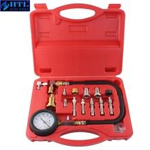 Автомобильные инструменты TU 15A дизельного двигателя компрессионный тестер комплект датчик давления двигателя 0 ~ 1000psi
