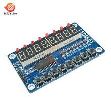 Módulo TM1638 pantalla clave para Arduino AVR 7 segmentos 8 dígitos Digital LED Display Tube 8-Bit Aideepen