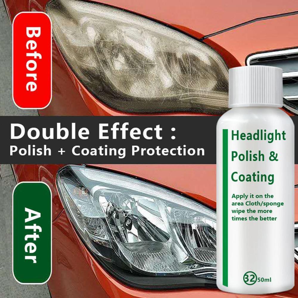 High Quality Car Headlight Repair Liquid Lamp Retreading Agent Glitter Auto Polish Len Restoration Car Headlight Restorer Kit