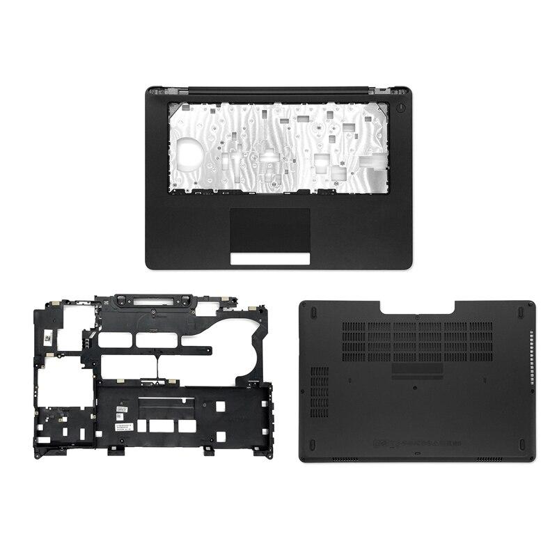 جديد محمول Palmrest حافظة علوية/حافظة سفلية/غطاء باب سفلي E Sheel لأجهزة الكمبيوتر المحمول Dell Latitude 5470 E5470 باللون الأسود