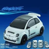 1set fiat 500 110 110 m car pc body shell 225mm wheelbase transparent clean no painted drift body shell for rc carten m car