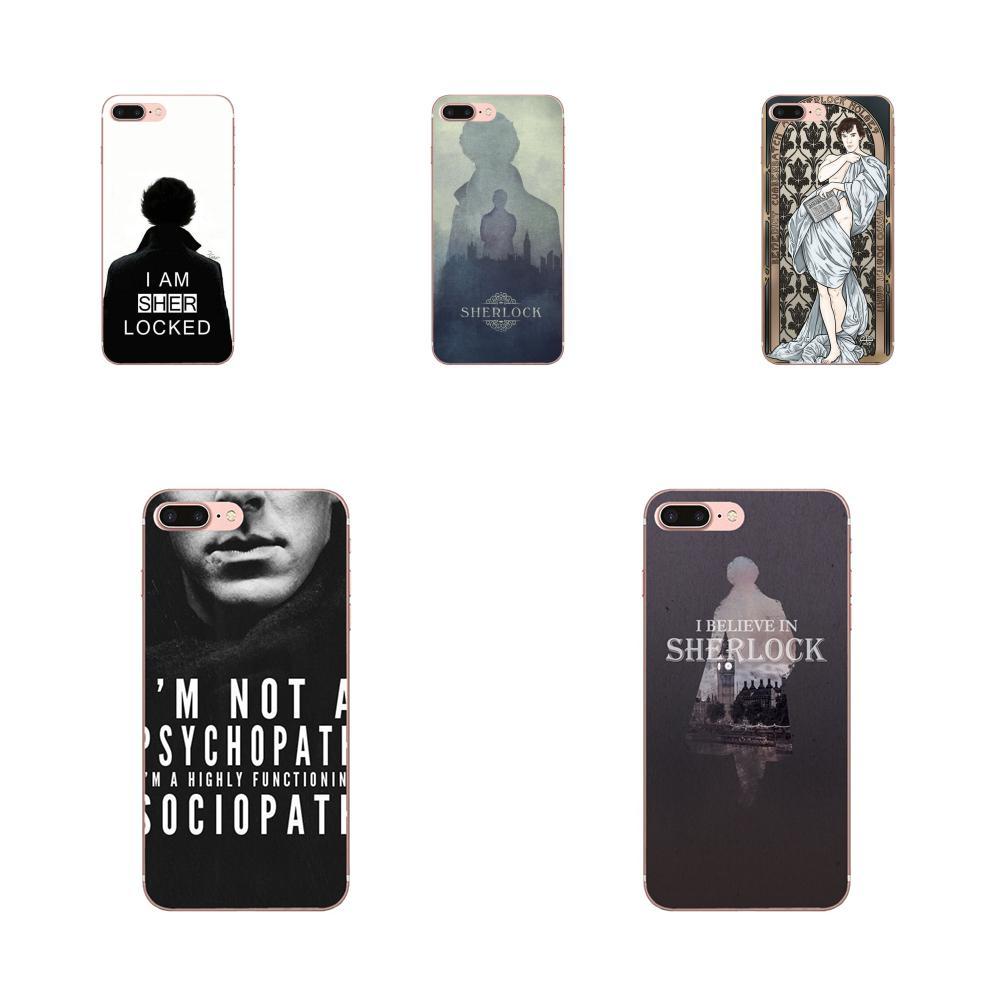 Para Apple iPhone 11 Pro X XS X Max XR 4 4S 5 5C 5S SE SE2 6S 6 7 8 Plus TPU impresión soy Sherlock Holmes superior