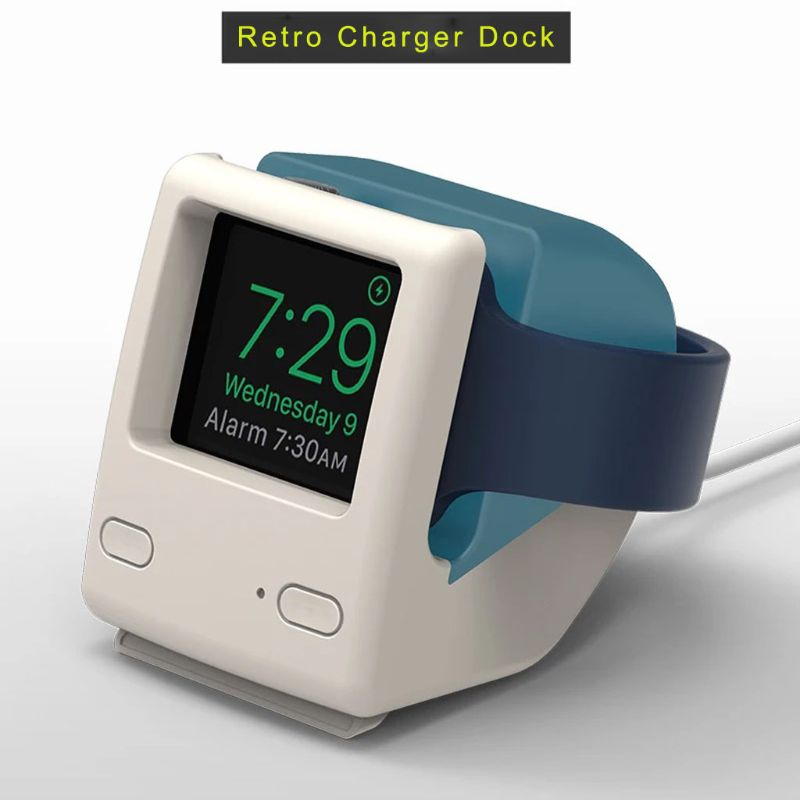 Soporte Universal de silicona para cargador de Reloj Retro, soporte para estación de carga para Apple Watch Series 4/3/2/1